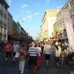 Uma das ruas do centro de Trois-Rivières