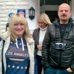 "Val (my wife), Tracey and Mike. Off for a busy day, ""fantastic""."