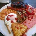 Breakfast time, double yum yum.