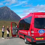 Wee Red Bus at Glen Coe