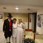 Familiäre Betreuung des Hochzeitspaares aus Österreich (Obergailtaler Tracht)