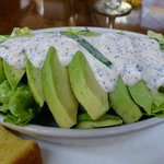 Butter lettuce and avocado salad