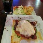 Cod with tomato and mozarella, delicious