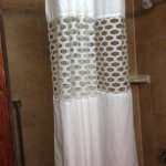 """Loved the """"window"""" shower curtain - lots of light, but still private"""
