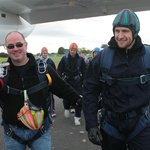 Mark and me before jump