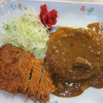 Tonkatsu with japanese curry and rice