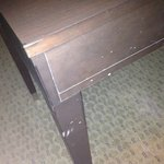 Beat up table.