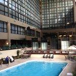 The rooms overlooking the indoor pool