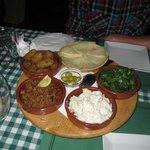 Vegetarian tapas platter