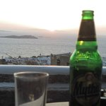 View of Mykonos town from our terrace