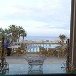 view over main restaurant terrace