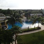 View from room balcony overlooking tranquility pool