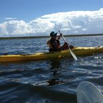 Ellisa guiding us in our Kayak