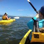 Ellisa guiding us in our Kayak