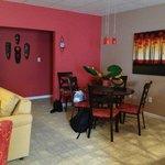 Fire Villa dining room