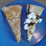 Pumpkin dessert pizza & S'mores Pizza