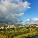 Rainbow view from condo