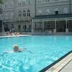 Enjoying the swimming pool