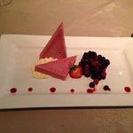 Iced blackberry parfait, Guernsey Cream and autumn berries