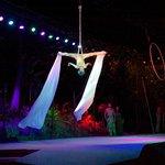 A Maui luau show with cirque style acrobatics