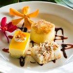 Hawaiian Maui Luau Desserts: Haupia Pie, Pineapple Upside Down Cake, Mago Cheesecake