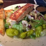 Blackened Salmon Greek Salad