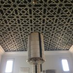Stenciled ceiling of room
