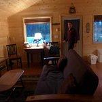 Loving the cozy cabin!