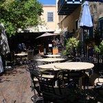 breakfast courtyard area