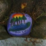 I randomly found this painted rock on the grounds. Very cool.