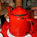 The old enamel teapot
