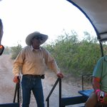 Wagon ride, cowboy