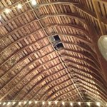 Ceiling of the reception barn