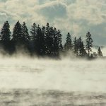 Enjoying a morning walk around Boothbay Harbor before we serve you breakfast-love the sea smoke!