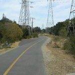 Power line towers below El Camino Real