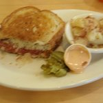 yummy rueben and german potato salad