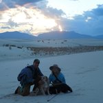 Us and Daisy at White Sands Sunset Tour