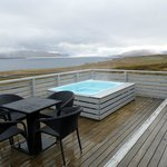 private hot tub and view