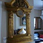 Antique mirror in room