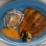 locally grown blackened rainbow trout