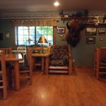 dining area where the sweet potato waffles ROCK !