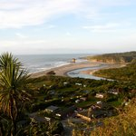 Punakaiki beach camp, nestled on the corner of the beach and the river