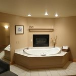 Private jacuzzi and fireplace