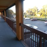 The breezeway outside our room