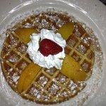 Peach Cobbler Waffle