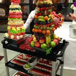 Fruit and Dessert Cart during the Inauguration Party