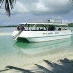 "Lagoon Lova ""docking"" at Samade"