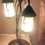 Custom made lamps throughout suites