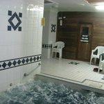 Dry Sauna and Hot Spa area