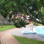 giardino interno piscina